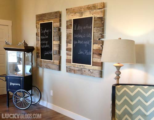 Reclaimed Wood As A Background For Chalkboard Art Like That There Are