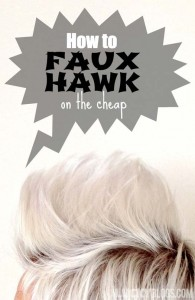 Faux hawk girl short hair how to on the cheap