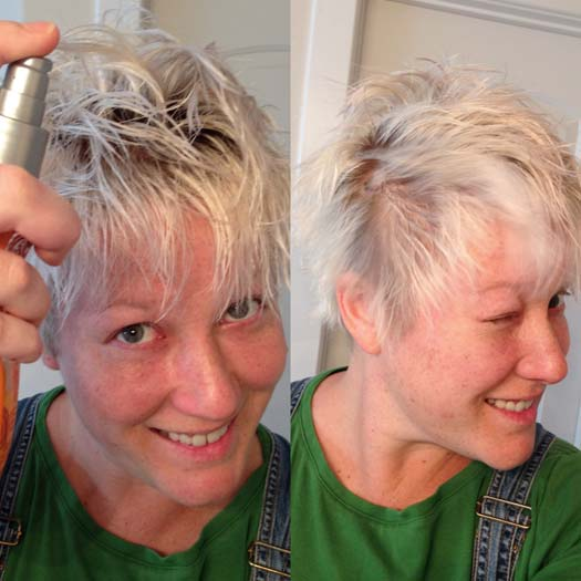 faux hawk girl short hair how to gel kinkier