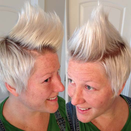 faux hawk girl short hair how to sides