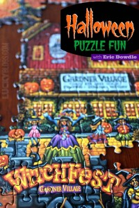 Halloween puzzle gift by Eric Dowdle folk art