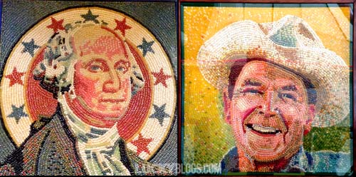 Jelly Belly factory tour bean art george washington ronald reagan